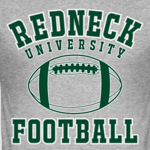 Shirt Redneck University Football - Männer Slim Fit T-Shirt