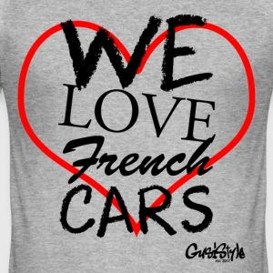 #welovefrenchcars ved GusiStyle - Herre Slim Fit T-Shirt