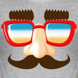 stuffing and catches mustache nose glasses - Men's Slim Fit T-Shirt