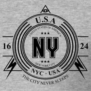 New York Badge - Maglietta aderente da uomo