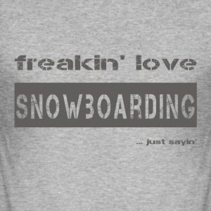 love SNOWBOARDING - dark T-Shirt - Men's Slim Fit T-Shirt