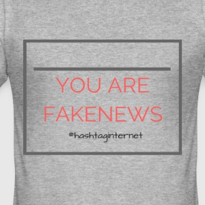 Du är fakenews Trump - Slim Fit T-shirt herr