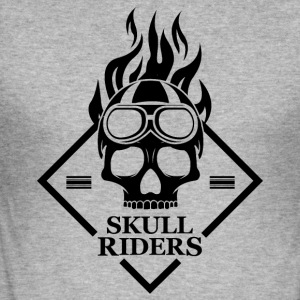 Skulls Motorcycle Motorcyclists - Men's Slim Fit T-Shirt