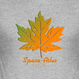 Space Atlas Long Sleeve T-shirt Autumn Leaves - Herre Slim Fit T-Shirt