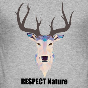respect Nature - Men's Slim Fit T-Shirt