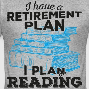 Retirement plan reading (dark) - Männer Slim Fit T-Shirt