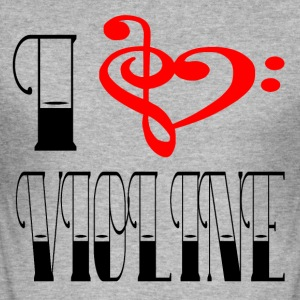 I LOVE VIOLINE - Männer Slim Fit T-Shirt