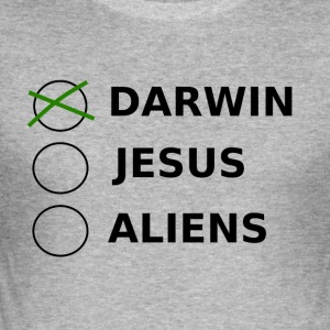 Design Darwin Aliens - Slim Fit T-skjorte for menn