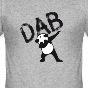 Dab dabbing panda bear slogan touchdown football hi - Men's Slim Fit T-Shirt