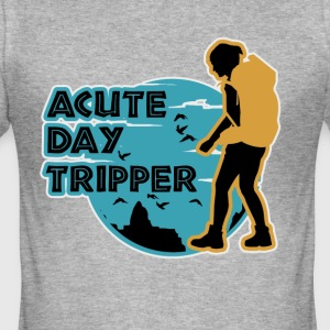 Akut dag tripper - Herre Slim Fit T-Shirt