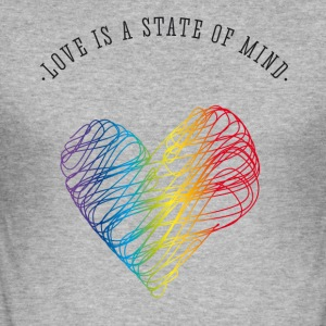 aimer amour coeur valentine gay pride Statement b - Tee shirt près du corps Homme