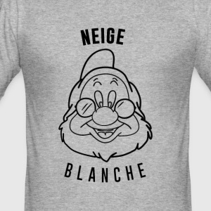 Neige_Blanche_Aubstd - Männer Slim Fit T-Shirt