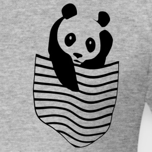 Panda in the pocket - Men's Slim Fit T-Shirt