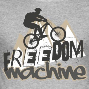 frihet Machine - Slim Fit T-shirt herr