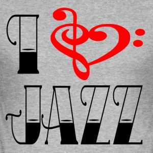 I LOVE JAZZ - Herre Slim Fit T-Shirt