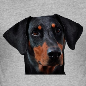 Doberman Pinscher - Slim Fit T-skjorte for menn