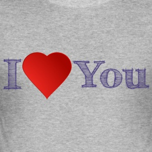 I Love you Valentinstag Pärchen - Männer Slim Fit T-Shirt