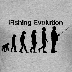 Fishing Evolution - Männer Slim Fit T-Shirt