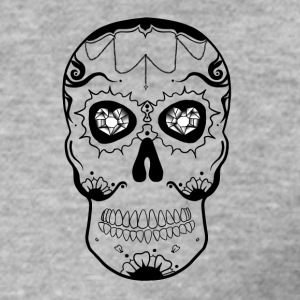 Calavera black and white - Men's Slim Fit T-Shirt