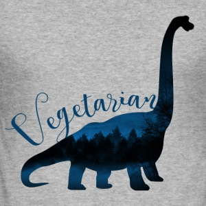 dinosaurie vegetarianer - Slim Fit T-shirt herr