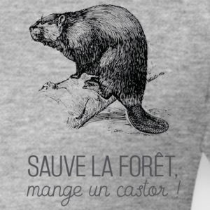Saves the forest, eat a beaver! - Men's Slim Fit T-Shirt