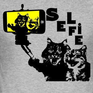 SELFIII CAT - Männer Slim Fit T-Shirt