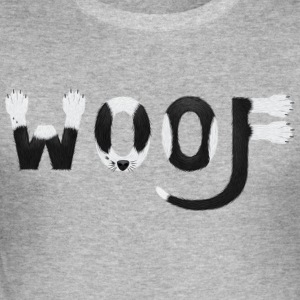 Dog-Hunde-T-Shirt - Woof Woof - Männer Slim Fit T-Shirt