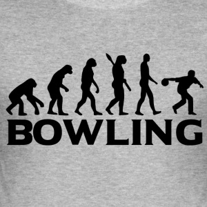Evolution Bowling Bowling Bowling bt - Slim Fit T-shirt herr