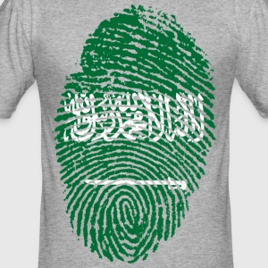 SAUDI ARABIEN / ARABIA FINGERABDRUCK - Männer Slim Fit T-Shirt