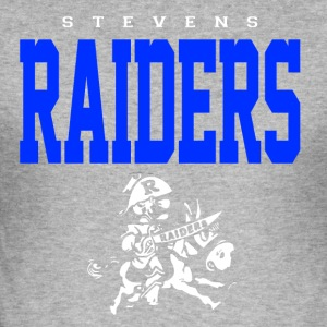 Stevens Raiders with horse - Men's Slim Fit T-Shirt