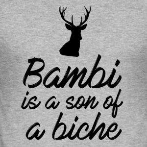 Bambi is a son of a doe - Men's Slim Fit T-Shirt