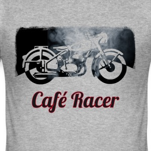 cafe-racer motorcycle Vintage Club Bike Biker smoke - Men's Slim Fit T-Shirt
