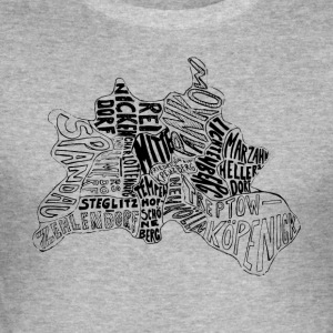 Berlin kaart Districten - slim fit T-shirt