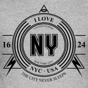 New York City Badge - Männer Slim Fit T-Shirt