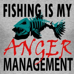 My Anger Management - Fishing - Men's Slim Fit T-Shirt