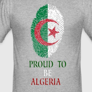 Proud to be Algeria Fingerabdruck - Männer Slim Fit T-Shirt