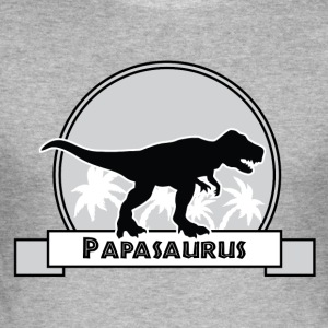 Papasaurus - Men's Slim Fit T-Shirt