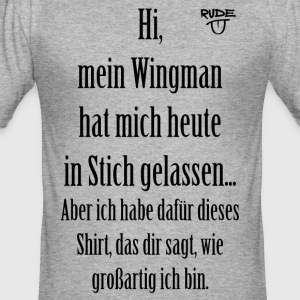WingmanShirt - Männer Slim Fit T-Shirt