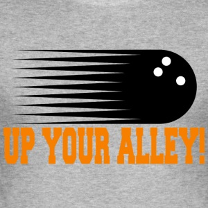 Funny Bowling op din alley! - Herre Slim Fit T-Shirt