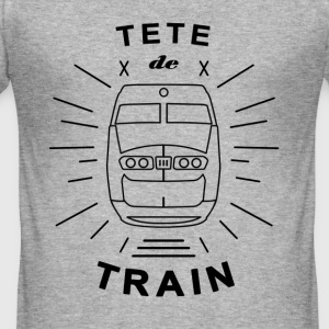 Tete_De_Train_Black_Aubstd - Männer Slim Fit T-Shirt