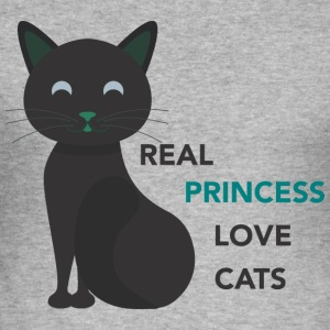 REAL LOVE PRINCESS CATS - Tee shirt près du corps Homme