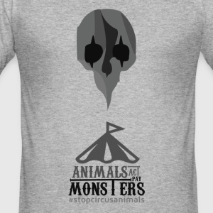 Stopcircusanimals - Männer Slim Fit T-Shirt