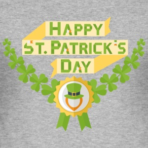 Happy st patricks day - Men's Slim Fit T-Shirt