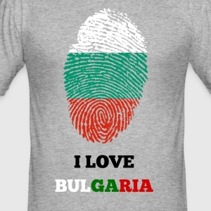 I LOVE BULGARIA - Männer Slim Fit T-Shirt