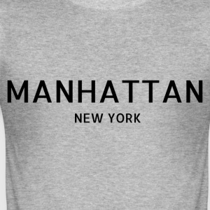 Manhattan - Slim Fit T-skjorte for menn