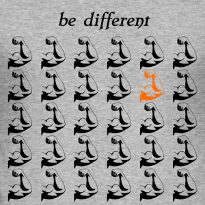"Fitness Shirt Fitness Accessories ""be different"" - Men's Slim Fit T-Shirt"