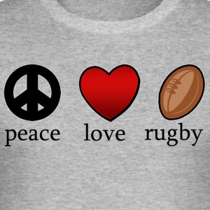 Peace Love Rugby - Tee shirt près du corps Homme