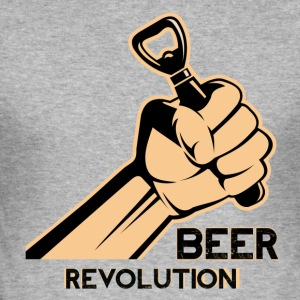 Bier-Revolution - Männer Slim Fit T-Shirt