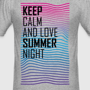 Keep calm and love summer night T-shirt - Men's Slim Fit T-Shirt