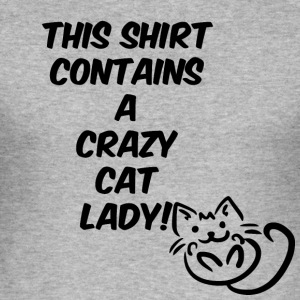 This shirt is a crazy cat lady black - Men's Slim Fit T-Shirt